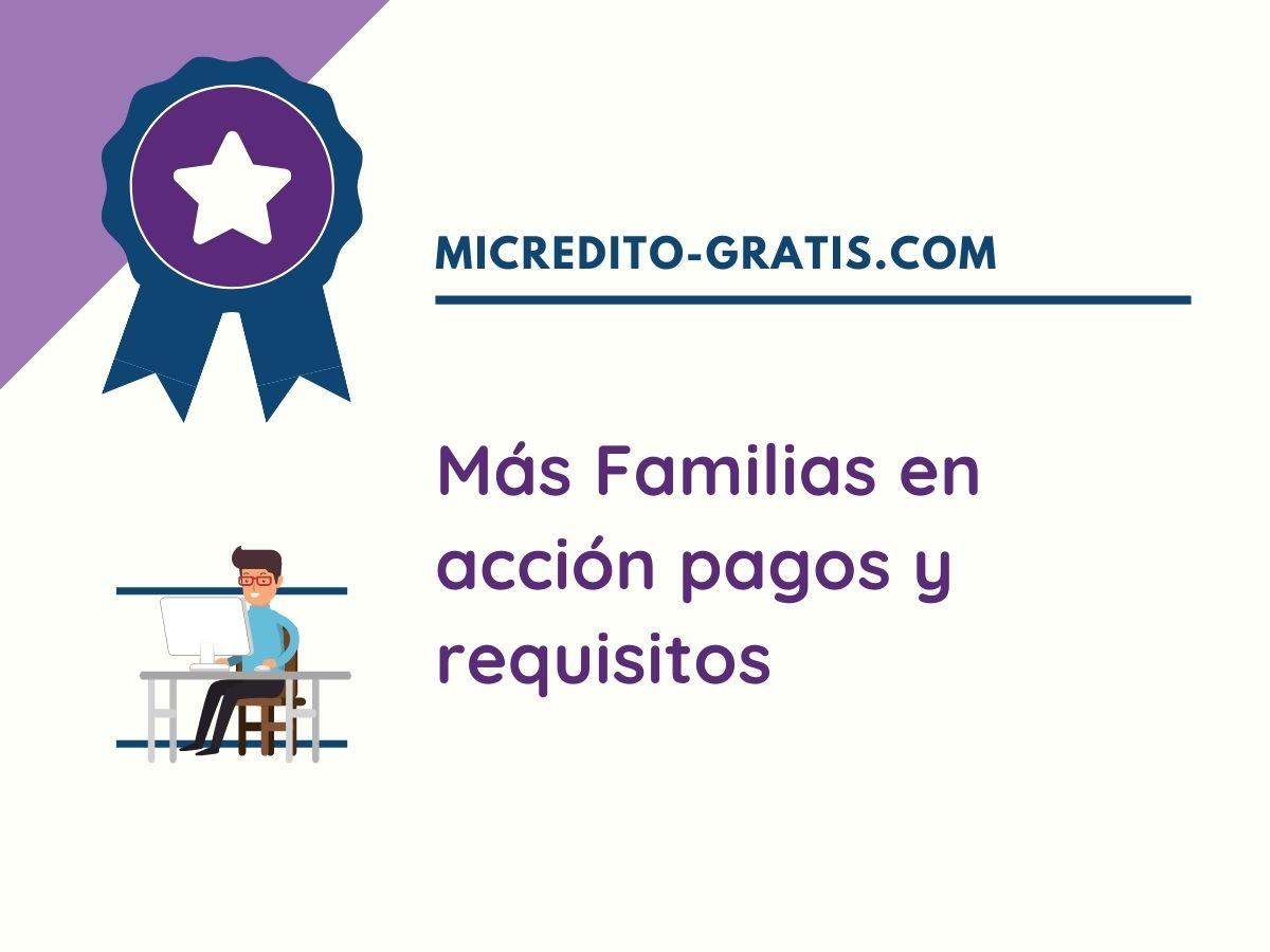 más familias en acción inscripción y pagos