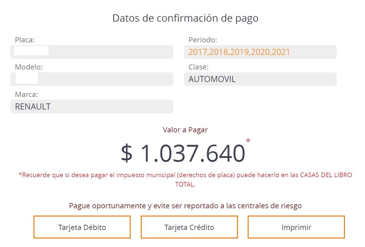 impuesto vehicular santander