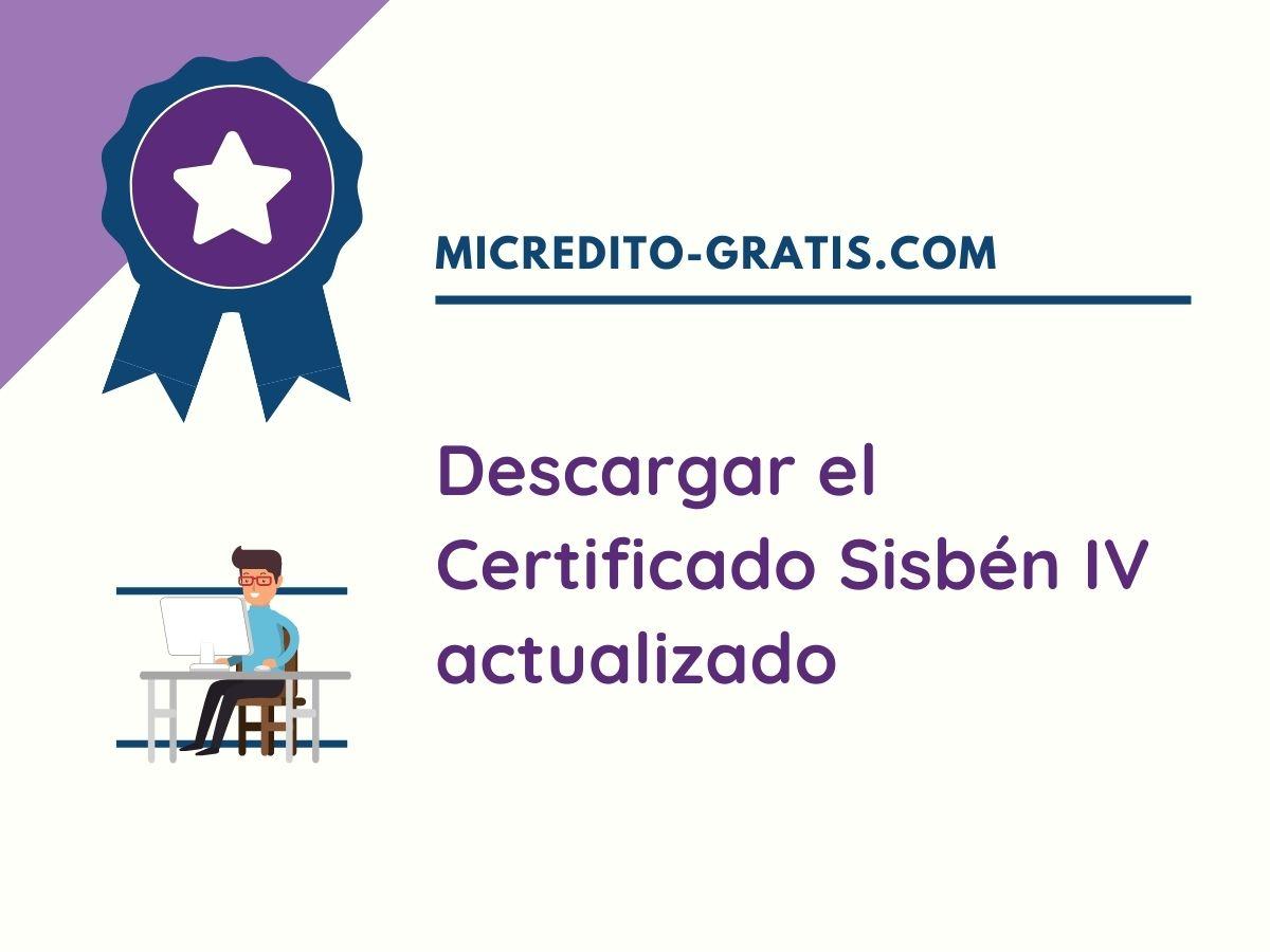 certificado sisbén 4 descargar