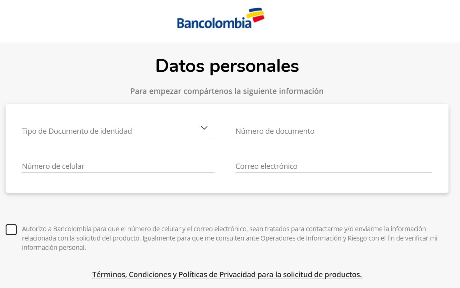 cuenta de ahorros bancolombia apertura